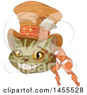 Grinning Cheshire Cat Wearing A Hat