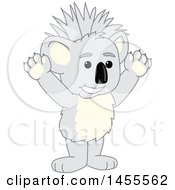 Cheering Koala Bear School Mascot Character With A Mohawk
