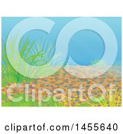 Clipart Of A River Bed Backdrop Royalty Free Illustration