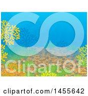 Sea Floor Backdrop With Pebbles And Corals