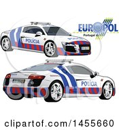Portuguese Police Car Shown From The Side