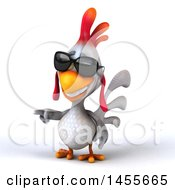 Clipart Graphic Of A 3d White Chicken On A White Background Royalty Free Illustration