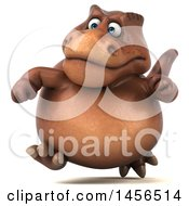 Poster, Art Print Of 3d Brown Tommy Tyrannosaurus Rex Dinosaur Mascot On A White Background