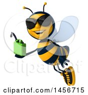 Clipart Graphic Of A 3d Male Bee Holding A Gas Can On A White Background Royalty Free Illustration