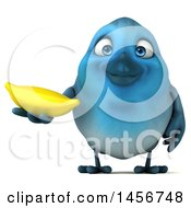 Clipart Graphic Of A 3d Blue Bird On A White Background Royalty Free Illustration