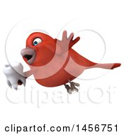 Clipart Graphic Of A 3d Red Bird On A White Background Royalty Free Illustration