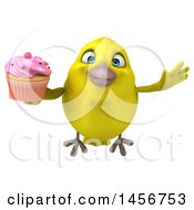 Clipart Graphic Of A 3d Yellow Bird On A White Background Royalty Free Illustration