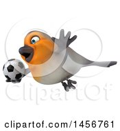 Clipart Graphic Of A 3d Robin Bird On A White Background Royalty Free Illustration