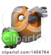 Poster, Art Print Of 3d Robin Bird On A White Background