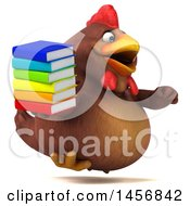 Clipart Graphic Of A 3d Chubby Brown Chicken On A White Background Royalty Free Illustration