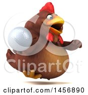 Clipart Graphic Of A 3d Chubby Brown Chicken On A White Background Royalty Free Illustration by Julos