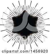 Black And Gold Starburst Frame Design Element
