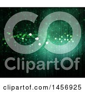 Clipart Of A Green Binary Code Matrix Background Royalty Free Illustration