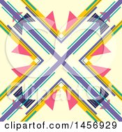 Clipart Of A Abstract Colorful X Background Design Royalty Free Vector Illustration by KJ Pargeter