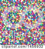Clipart Of A Colorful Triangle Background Royalty Free Vector Illustration