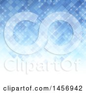 Clipart Of A Blue Lattice And Connection Background Royalty Free Vector Illustration