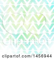 Clipart Of A Watercolor Triangle Or Arrow Pattern Royalty Free Vector Illustration