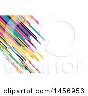 Clipart Of A Colorful Diagonal Lines Background Or Business Card Design Royalty Free Vector Illustration
