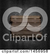 Clipart Of A 3d Aged Wood Sign Over Metal Royalty Free Illustration by KJ Pargeter