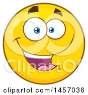 Cartoon Happy Yellow Emoji Smiley Face
