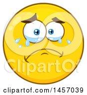 Cartoon Crying Yellow Emoji Smiley Face