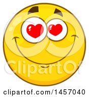 Cartoon Infatuated Yellow Emoji Smiley Face