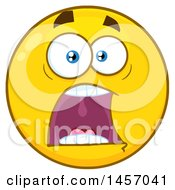 Cartoon Screaming Yellow Emoji Smiley Face