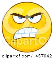 Cartoon Mean Yellow Emoji Smiley Face