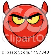 Clipart Of A Cartoon Devil Emoji Smiley Face Royalty Free Vector Illustration by Hit Toon