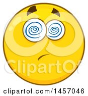 Cartoon Dazed Yellow Emoji Smiley Face