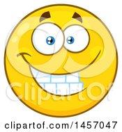 Cartoon Grinning Yellow Emoji Smiley Face
