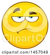 Clipart Of A Cartoon Annoyed Yellow Emoji Smiley Face Royalty Free Vector Illustration