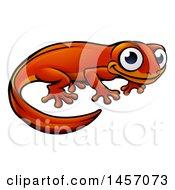 Clipart Of A Cartoon Happy Newt Royalty Free Vector Illustration by AtStockIllustration
