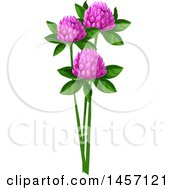Clipart Of Clover Flowers Royalty Free Vector Illustration by Vector Tradition SM