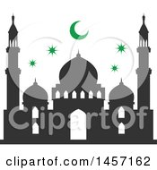 Clipart Of A Ramadan Kareem Design With A Mosque Royalty Free Vector Illustration by Vector Tradition SM
