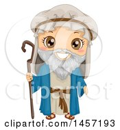 Clipart Of A Happy Boy In A Noah Costume Royalty Free Vector Illustration