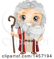 Clipart Of A Happy Boy In A Moses Costume Royalty Free Vector Illustration