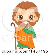 Clipart Of A Happy Boy In A Joseph Costume Royalty Free Vector Illustration by BNP Design Studio
