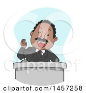 Clipart Of A Cartoon Martin Luther King Jr Giving A Speech Royalty Free Vector Illustration