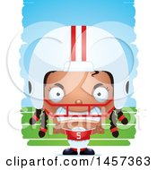 Poster, Art Print Of 3d Mad Black Girl Powder Puff Football Player Over Strokes