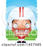 Poster, Art Print Of 3d Mad Black American Football Player Boy Over Strokes