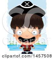 3d Happy Hispanic Boy Pirate Over Strokes