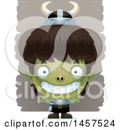 Clipart Of A 3d Grinning Goblin Boy Royalty Free Vector Illustration by Cory Thoman
