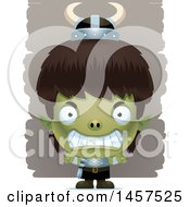 Clipart Of A 3d Mad Goblin Boy Royalty Free Vector Illustration by Cory Thoman