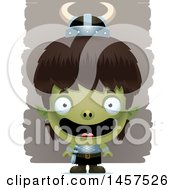Clipart Of A 3d Happy Goblin Boy Royalty Free Vector Illustration by Cory Thoman