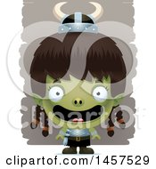 Clipart Of A 3d Happy Goblin Girl Royalty Free Vector Illustration by Cory Thoman