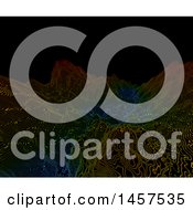 Clipart Of A Colorful Wireframe Terrain Background Royalty Free Illustration