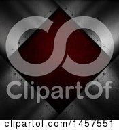 Clipart Of A Red Metal Diamond Plaque And Silver Royalty Free Illustration