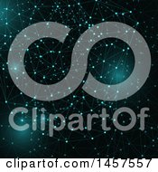 Clipart Of A Background Of Glowing Connections Royalty Free Vector Illustration