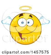 Clipart Of A Cartoon Angel Emoji Smiley Face Royalty Free Vector Illustration by Hit Toon
